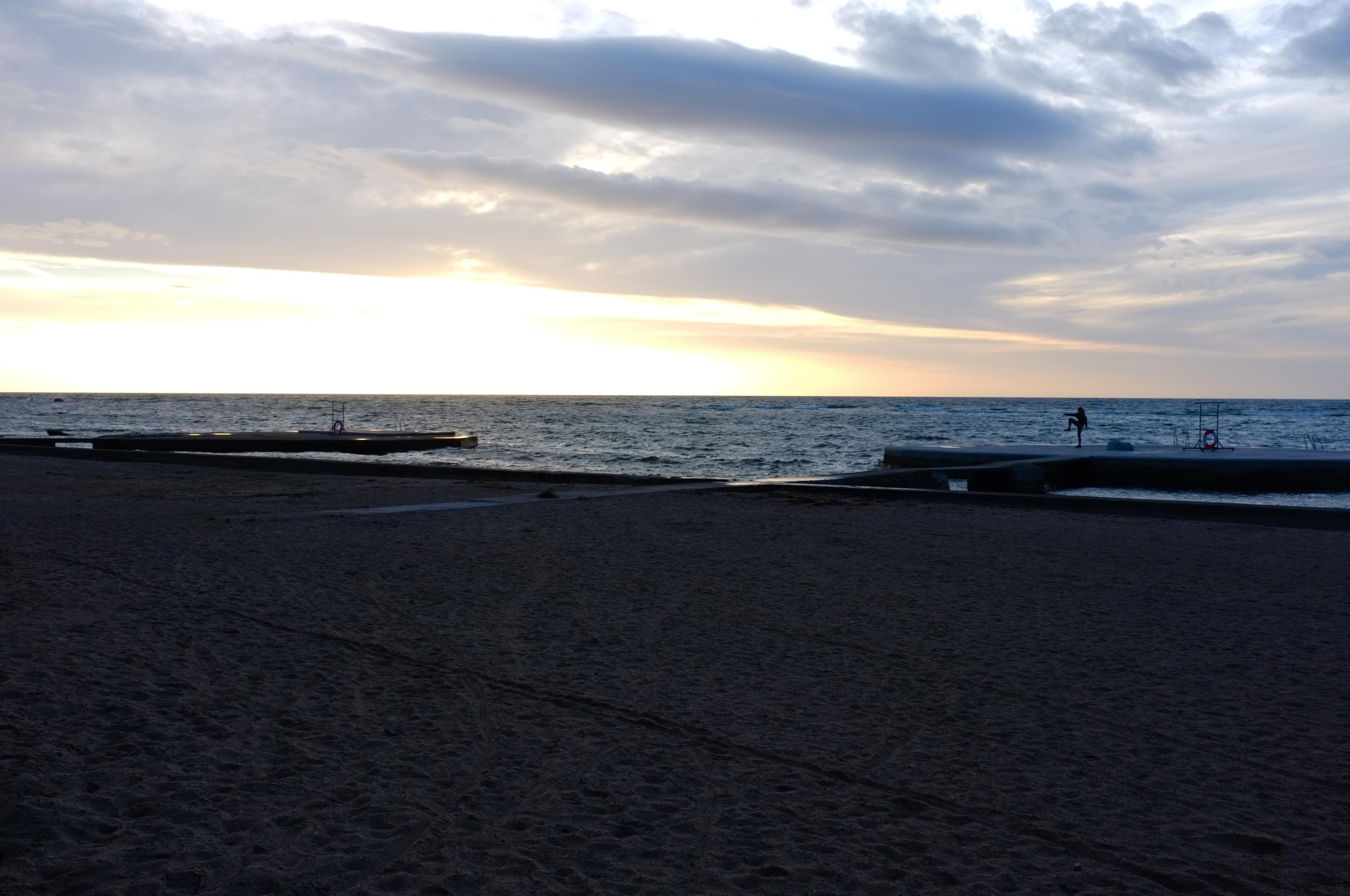 Snäck Gotland solnedgång