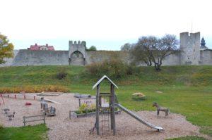 Höstlov på Gotland - lekplats Hästarnas dal