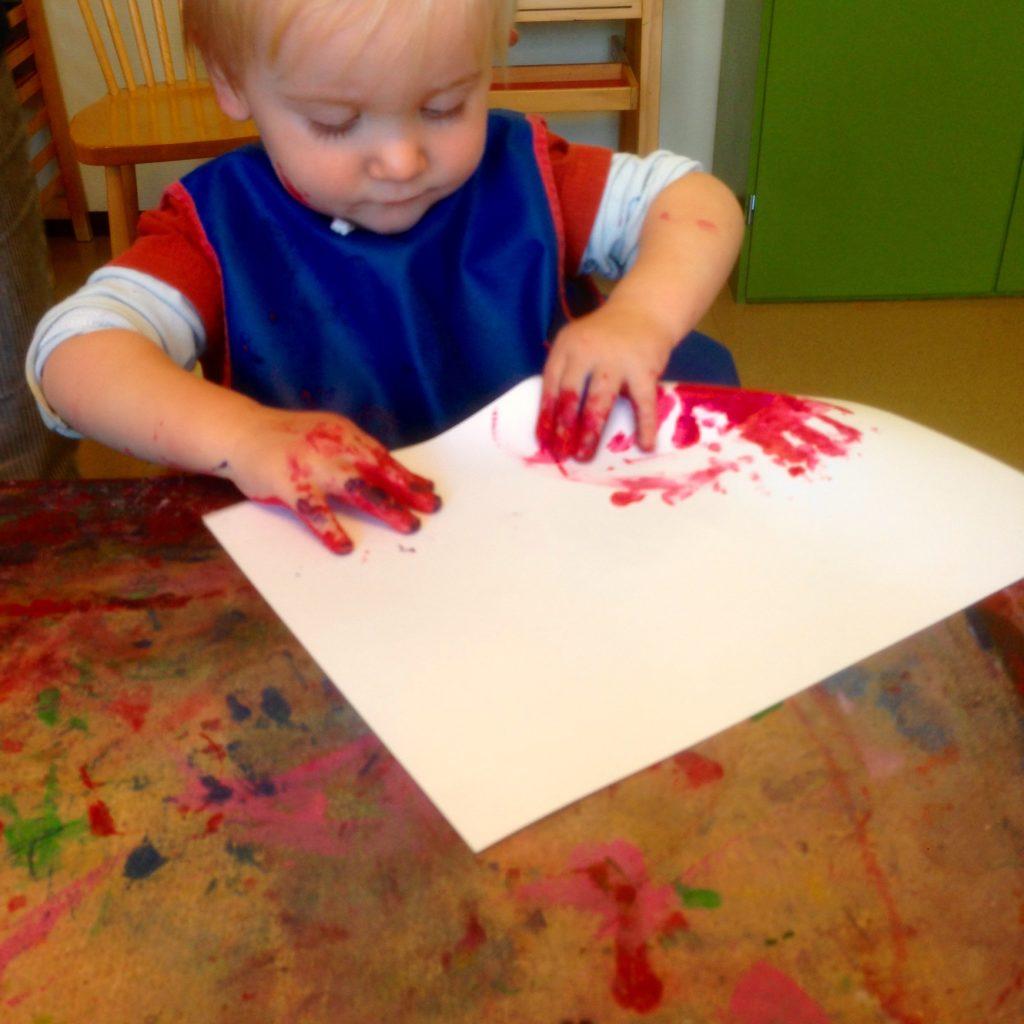 måla på öppna förskolan