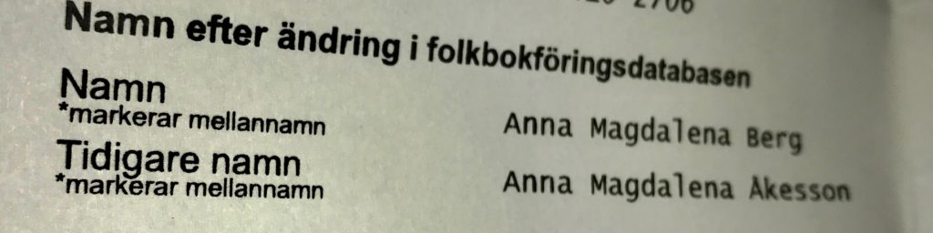 byta efternamn