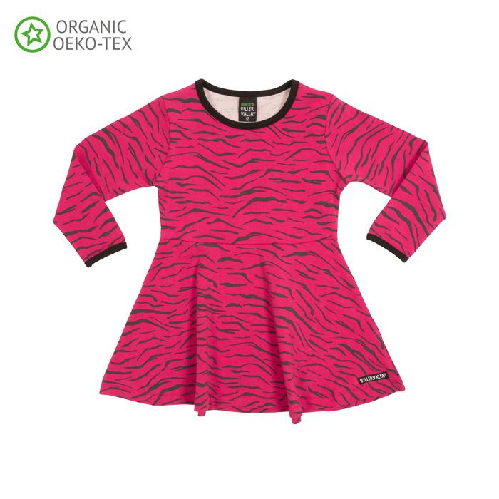 Barnkläder - zebraklänning från Villervalla
