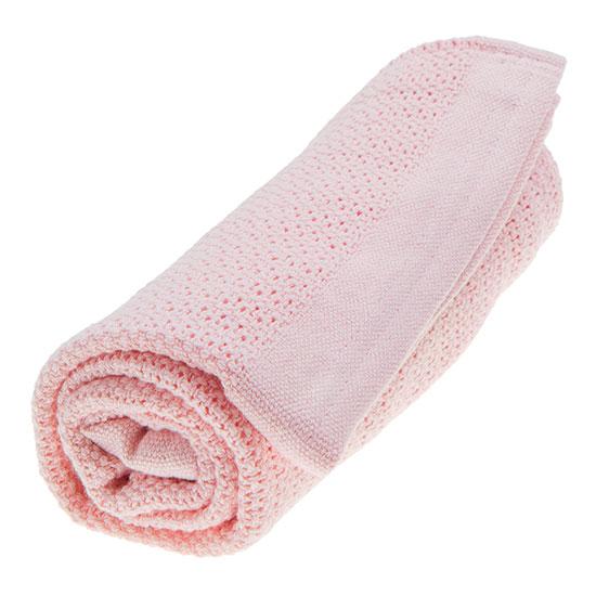 rosa gallerfilt babyfilt