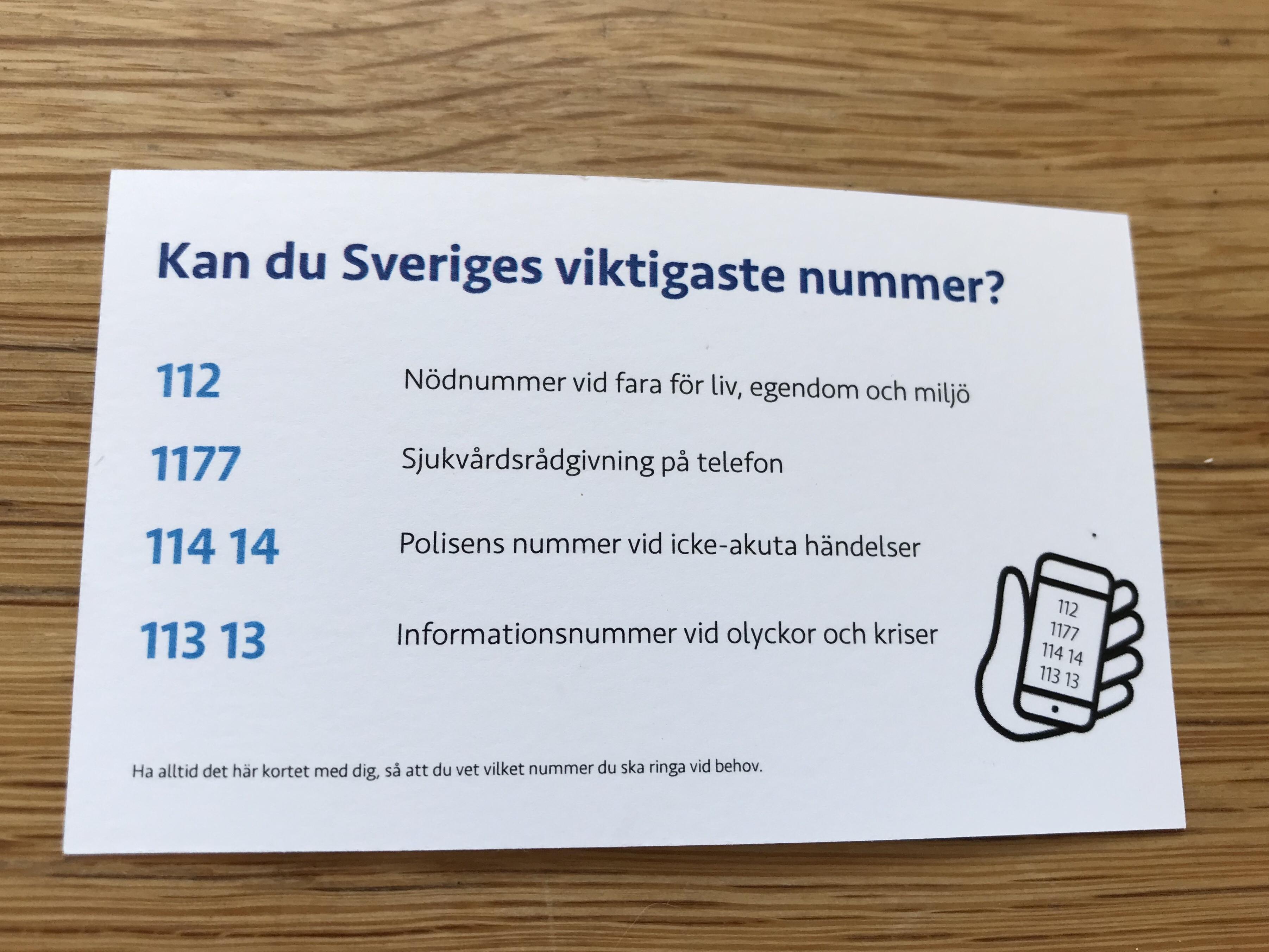 Sveriges viktigaste telefonnummer