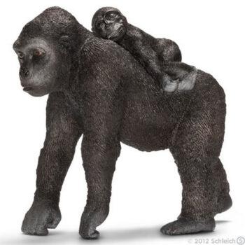 gorilla med unge