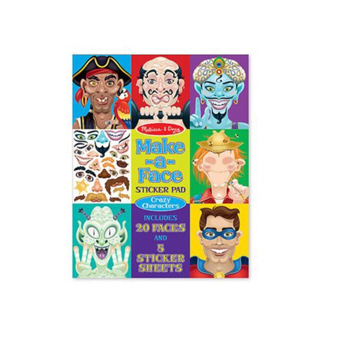 stickersbok med crazy klistermärken