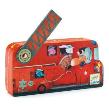 Djeco puzzle brandbil