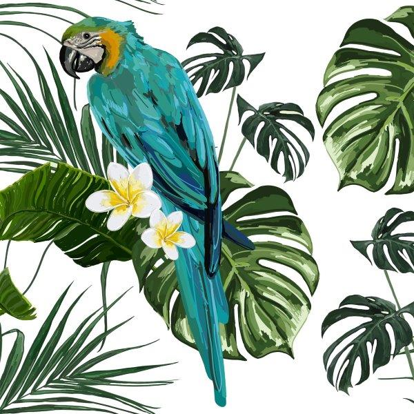 matservett papegoja