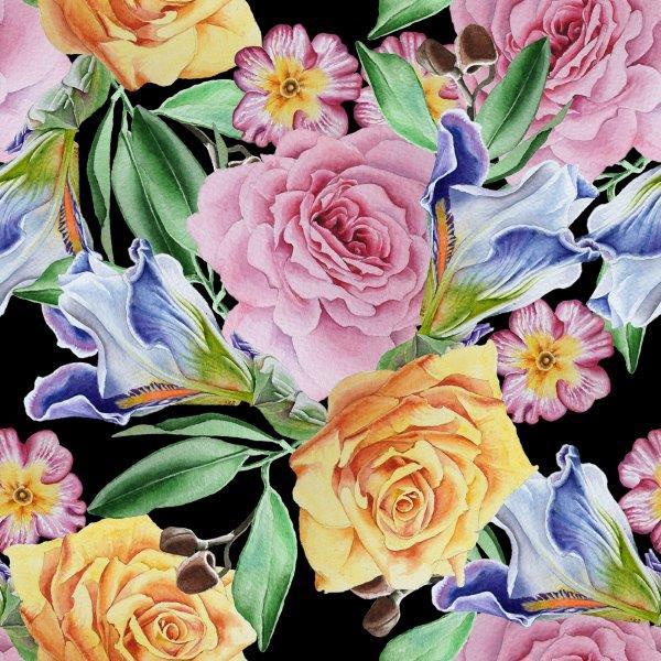 matservett blommor