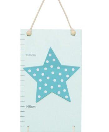 måttstock stjärna blå