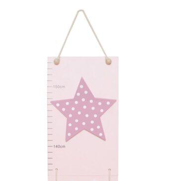 måttstock stjärna rosa