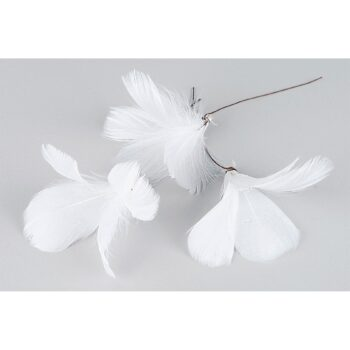 fjäder blom vit