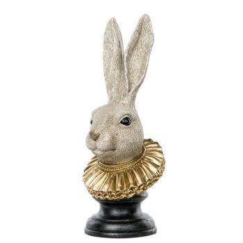 kaninhuvud med guldkrage