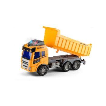 lastbil med tippsläp gul