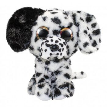 lumo dalmatiner hund svar vit