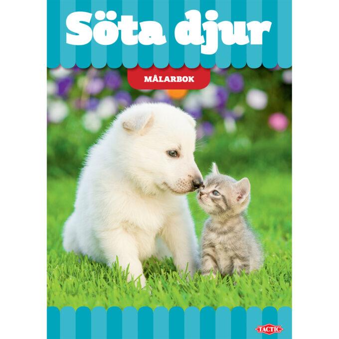 söta djur målarbok