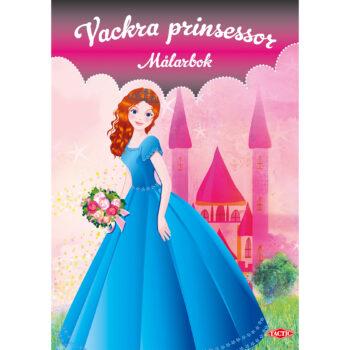 vackra prinsessor målarbok