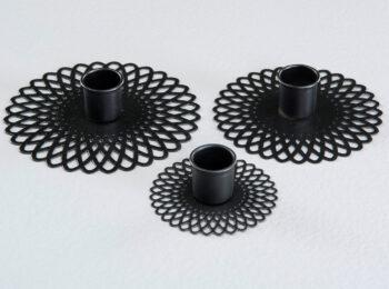 kronljushållare doris svart grupp