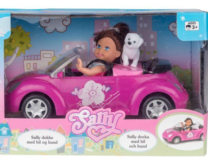 Sally docka med bil och hund