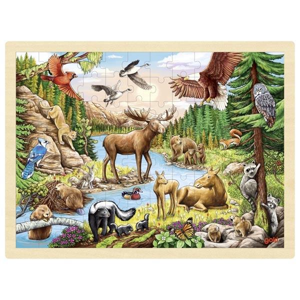 Pussel vilda djur 96 bitar