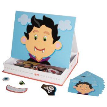 magnetbox med roliga ansikte