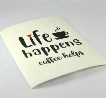 disktrasa life happens coffee helps