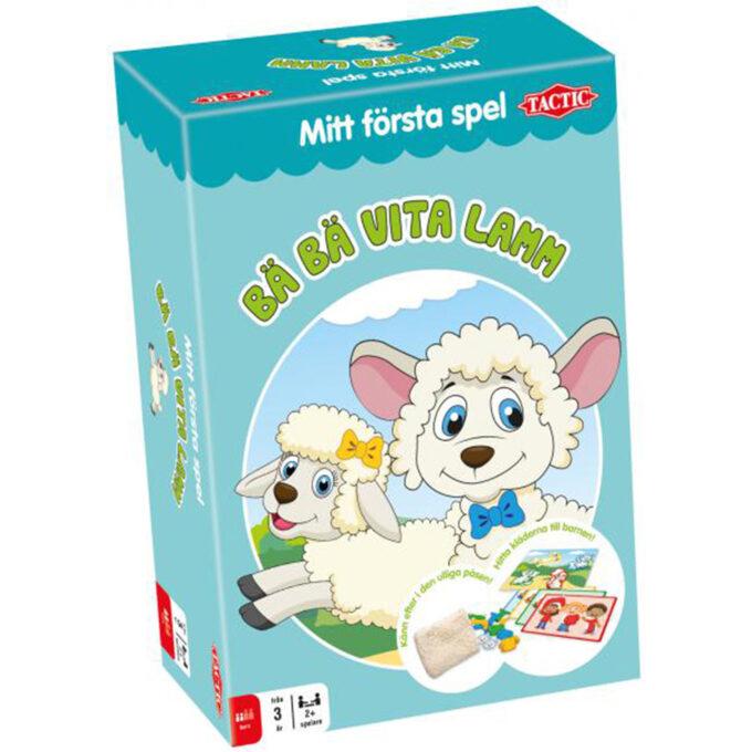 mitt första spel bäbä vita lamm