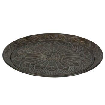 bricka plate brun metall