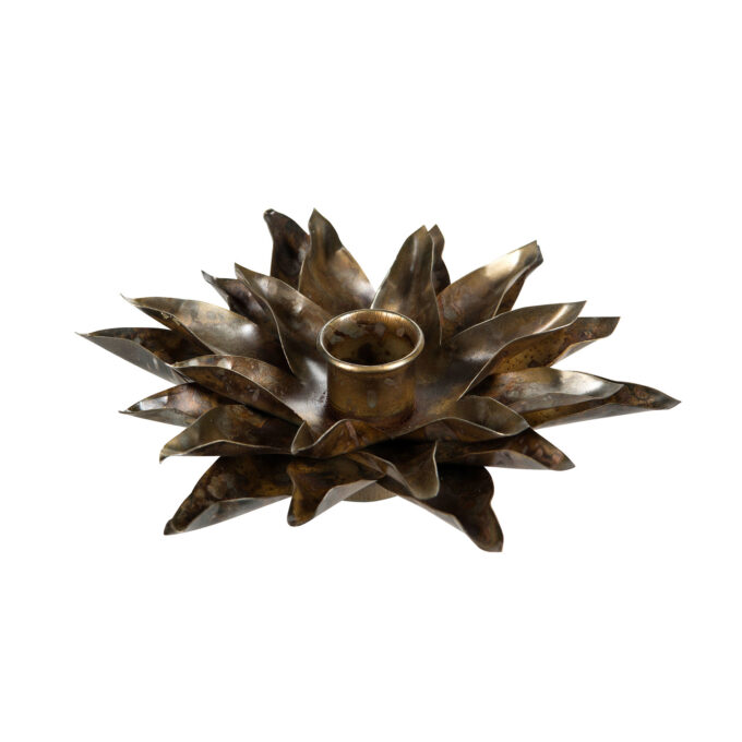 ljushållare näckros kronljus