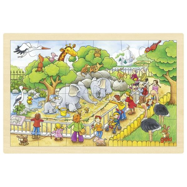 Träpussel zoo