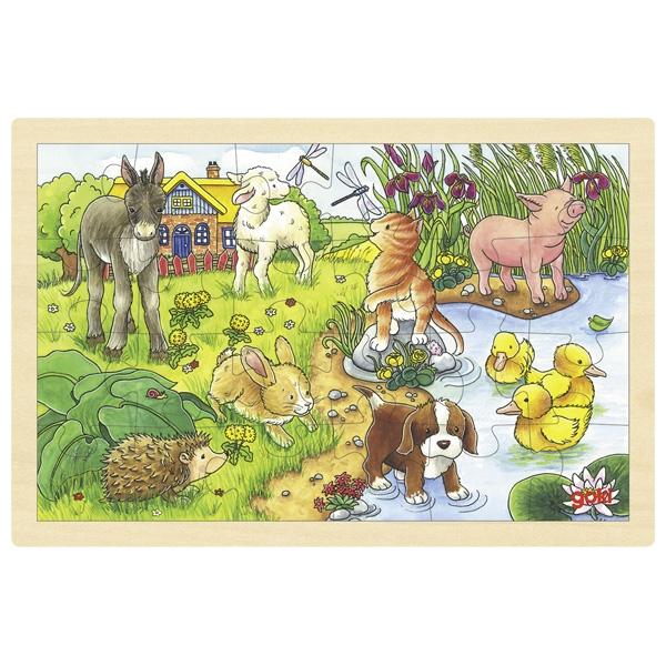 träpussel djurungar