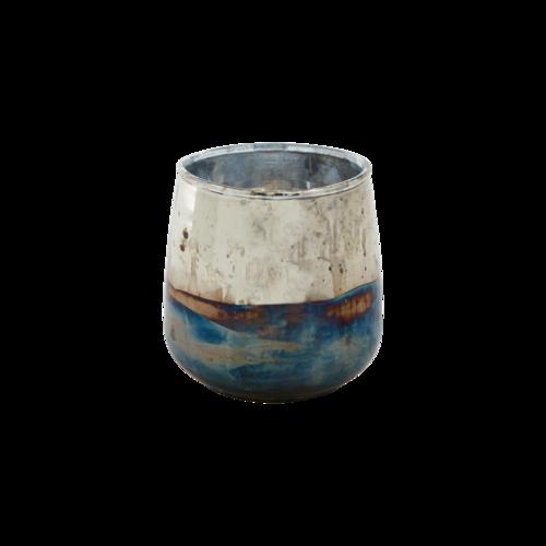ester värmeljushållare blå silver