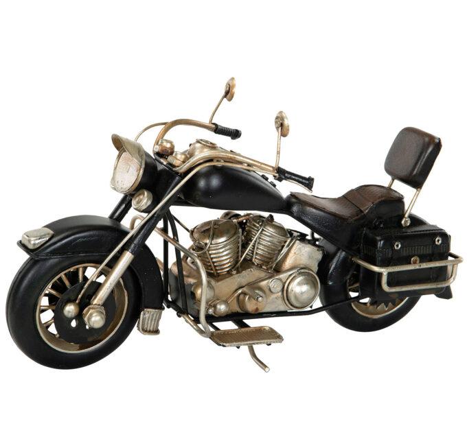 motorcykel svart metall