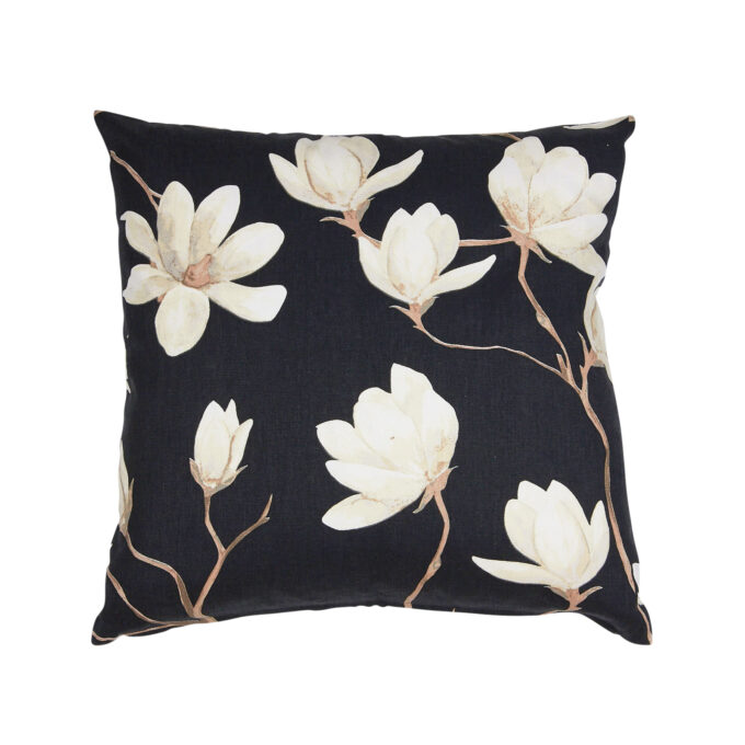 Kuddfodral magnolia svart