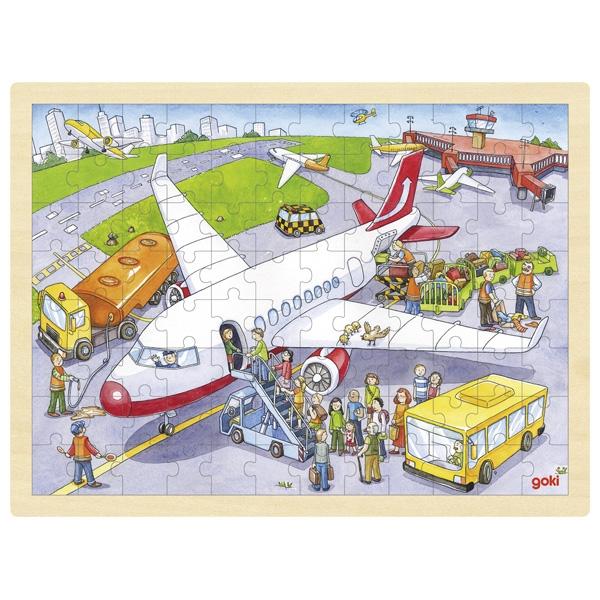 träpussel flygplats